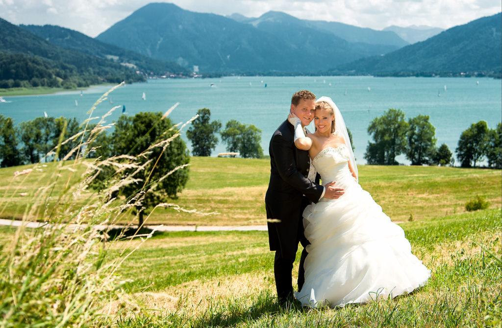 Hochzeitsfoto am Tegernsee