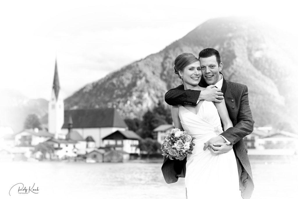 Brautpaar im Malerwinkel in Rottach-Egern