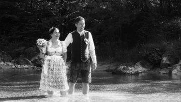 Hochzeitsfotos in schwarz-weiss