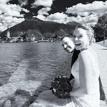 Brautpaar in Rottach-Egern