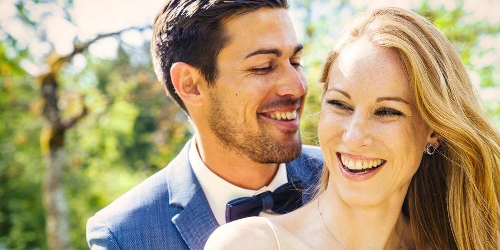 Hochzeitsfoto Brautpaar Portrait