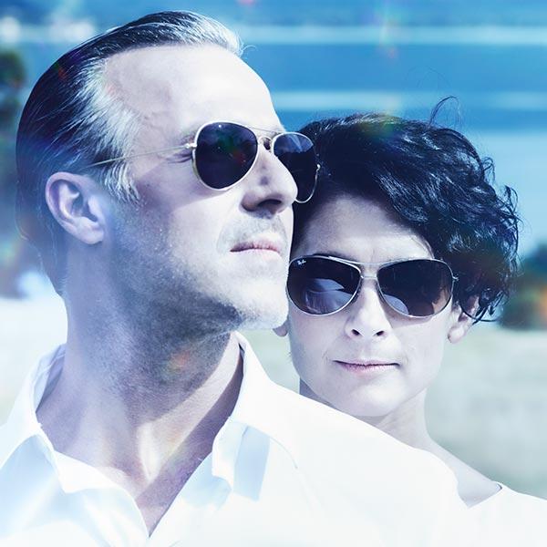 Portrait Brautpaar Sonnenbrillen