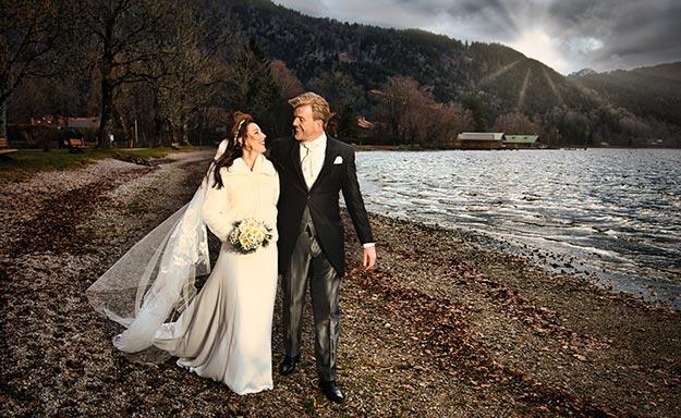 Brautpaar am Seeufer Tegernsee