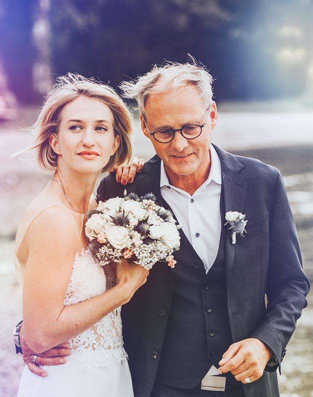 Brautpaar Hochzeitsfoto authentisch