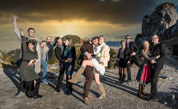 Hochzeits-Gruppenfoto Wendelstein