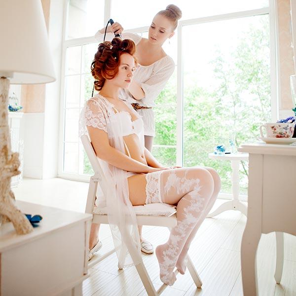 Braut Hairstyling