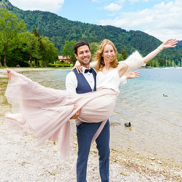 Tegernsee Rolf Kaul after-wedding-shooting Hochzeitsfotograf Seeufer
