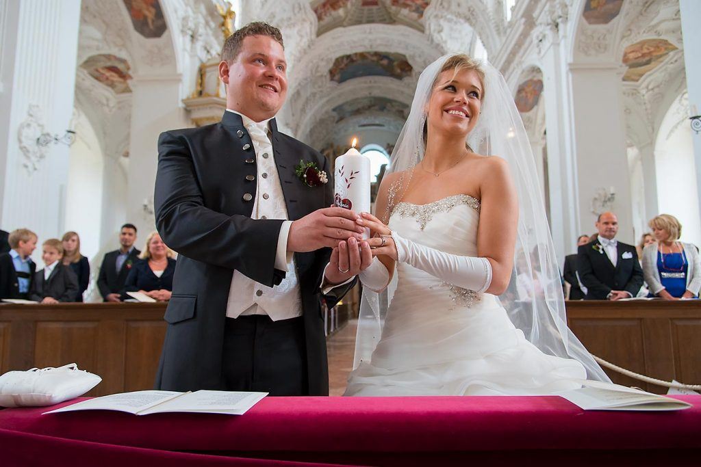 Hochzeitsfotograf Tegernsee Rolf Kaul Quirinus-Kirche Tegernsee